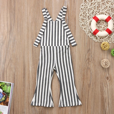 Baby Girl Stripe Overalls Jumpsuit - The Childrens Firm