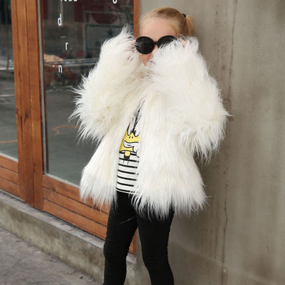 Fluffy Princes Faux Fur Coat - The Childrens Firm