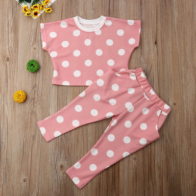 Pink Polka 2pcs Set - The Childrens Firm
