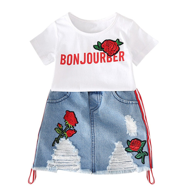 Bonjour Baby Skirt Set - The Childrens Firm