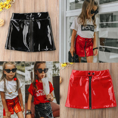 Patent Faux Leather Mini Skirt - The Childrens Firm