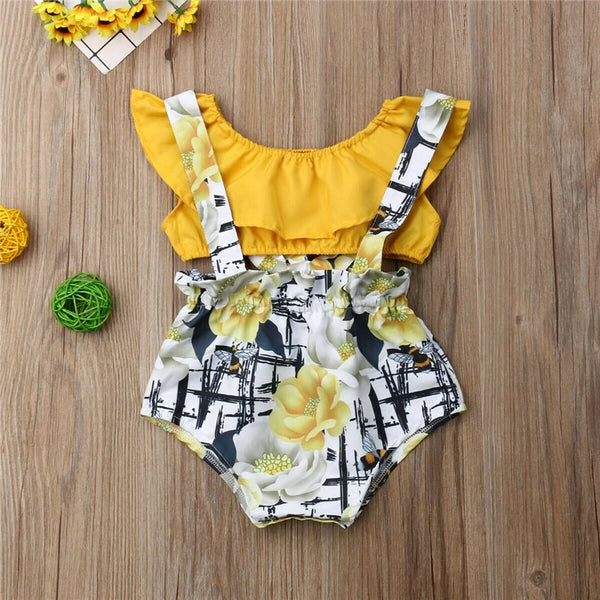 Crop Top Overall Romper Set - The Childrens Firm