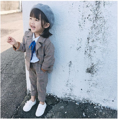 Plaid Jacket & Pants Set - The Childrens Firm