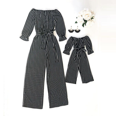 Striped Jumpsuit Mommy&Me - The Childrens Firm