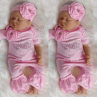 Pink Onesie Hello World Romper - The Childrens Firm
