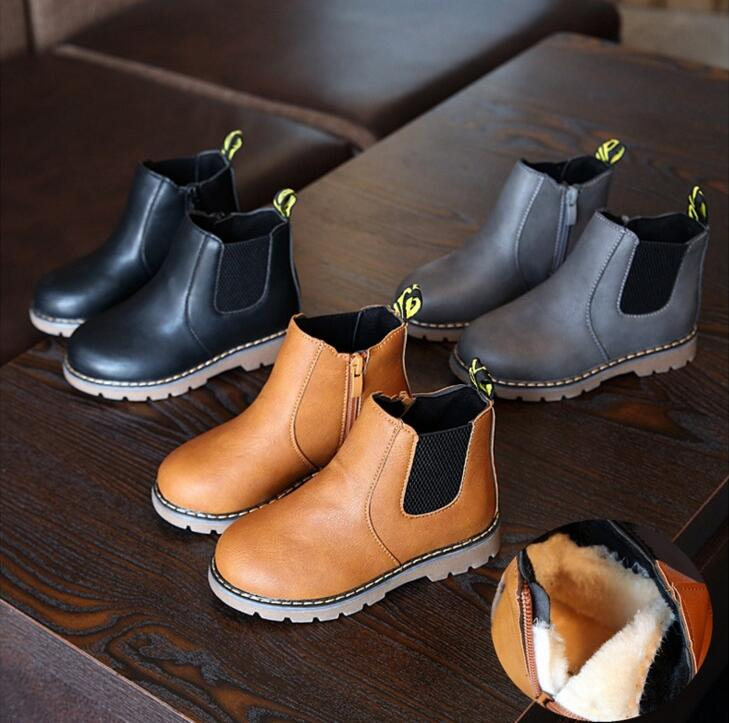 Fashion Faux leather Warm Boots - The Childrens Firm