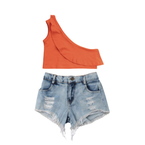 Summers Here Jean Shorts Set - The Childrens Firm