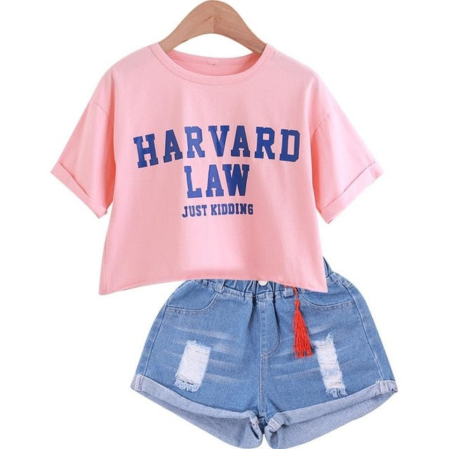 Harvard Law... Jk Shorts Set - The Childrens Firm