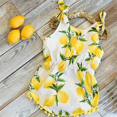 Lemon Squeeze Romper - The Childrens Firm