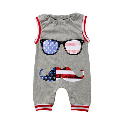 Fourth of July Cool Kid Jumpsuit - The Childrens Firm