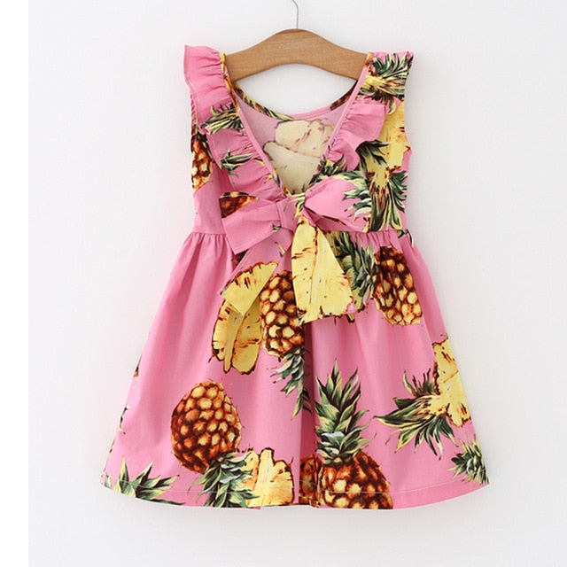 Pink Pineapples Dress - The Childrens Firm