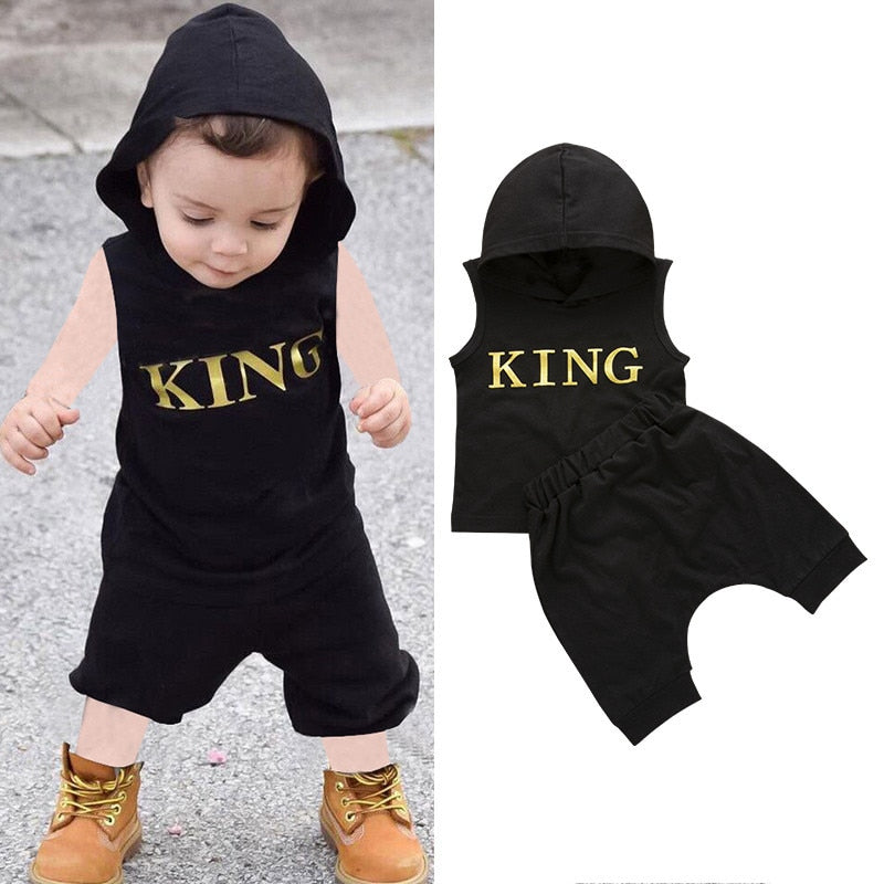 King Print Hoodie Set - The Childrens Firm