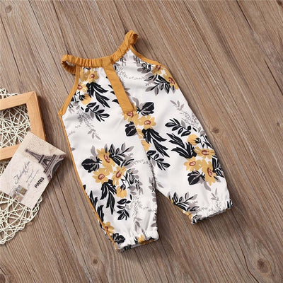 Mustard Floral Romper - The Childrens Firm