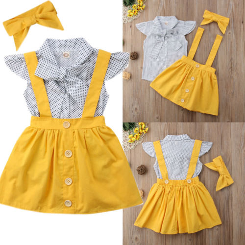Yellow Princess Overall Skirt Dress - The Childrens Firm