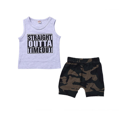 Straight Outta Timeout 2pc Set - The Childrens Firm