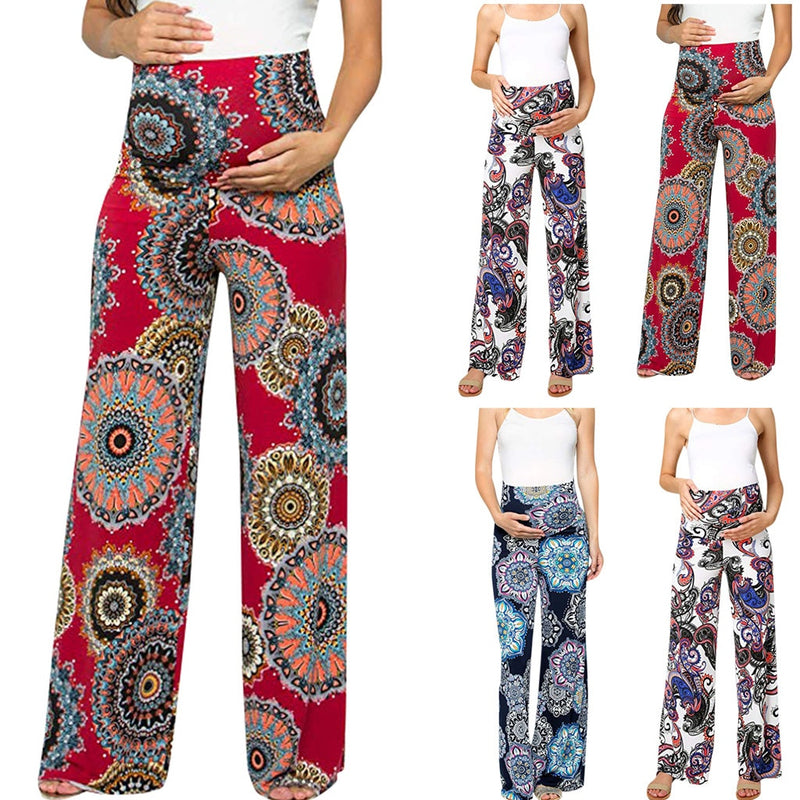 Patterned Maternity Flowy Pants - The Childrens Firm