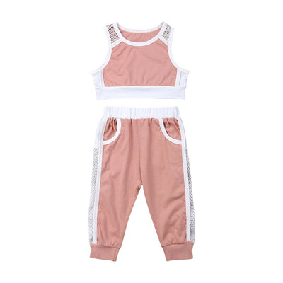 Babygirl Active Pink Tracksuit - The Childrens Firm