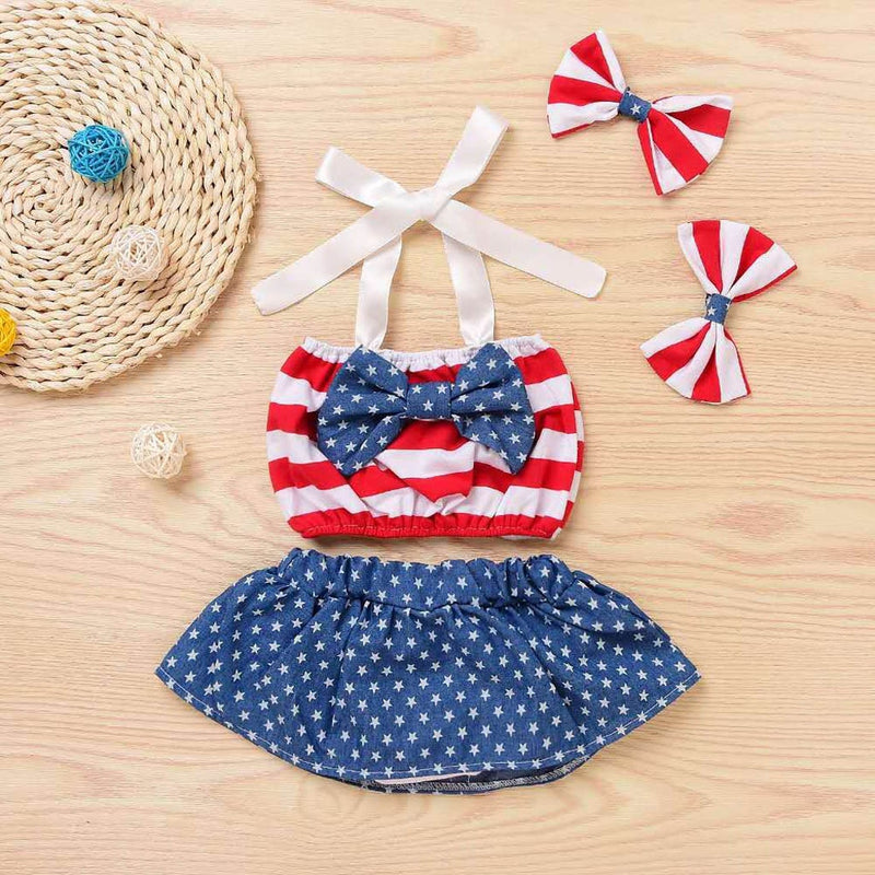 4th of July Newborn Skirt Set - The Childrens Firm