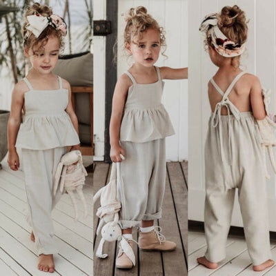 Overall Ruffle Bandage Jumpsuit - The Childrens Firm