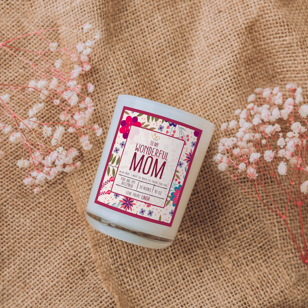 """To My Wonderful Mom"" Candle Box, Personalized Gift For Mom"
