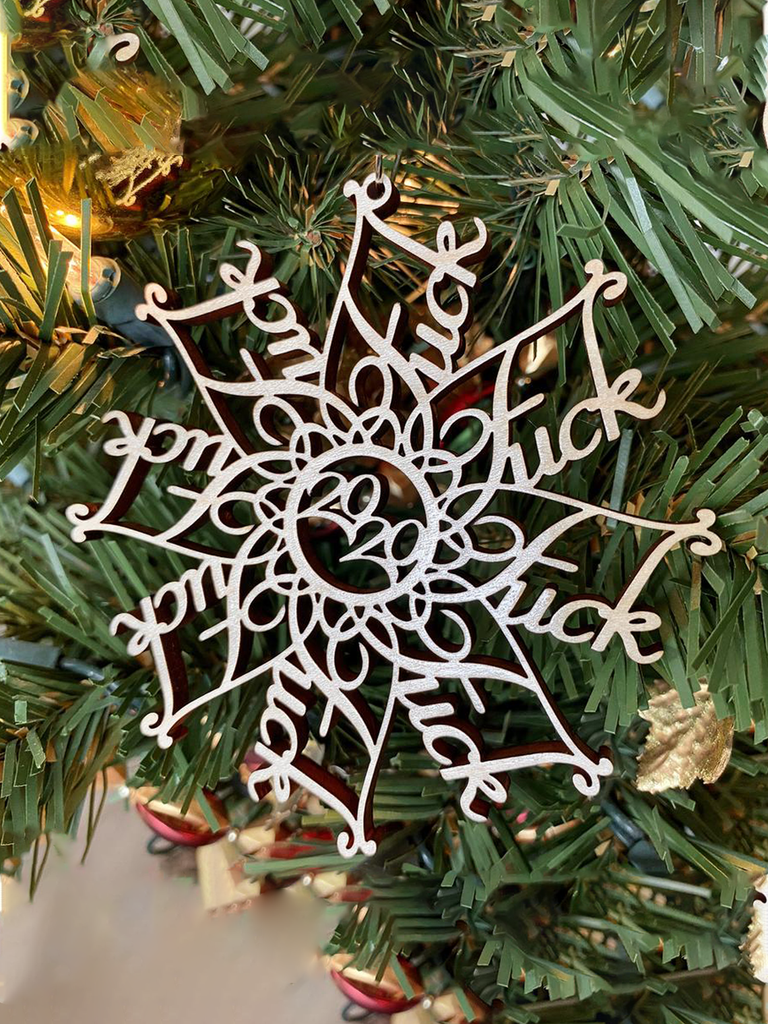 F*ck 2020 Snowflake Wooden Christmas Ornament