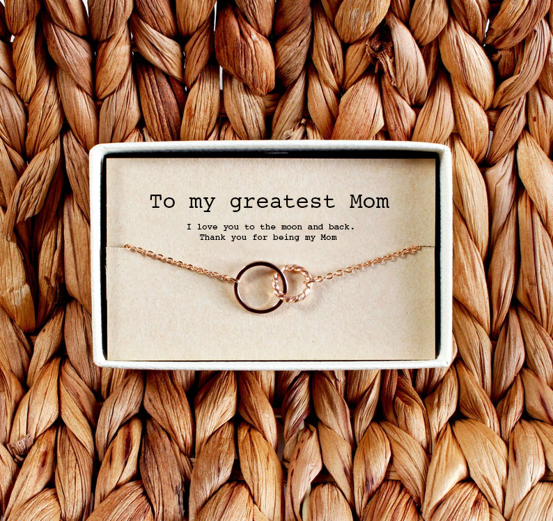 Custom Interlocking Circles Necklace - Gift for Mom