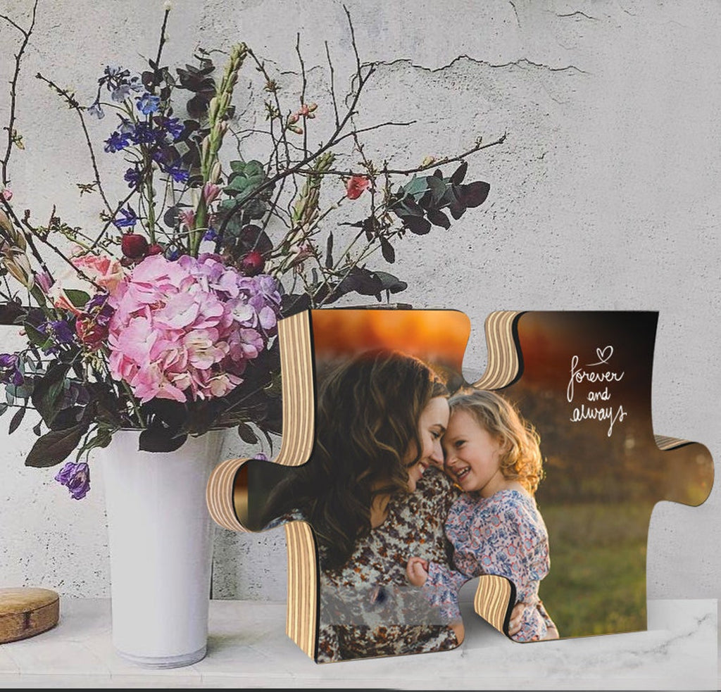 Photo On Wood Puzzle, Personalized Gift For Mom