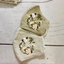 Bees and Leaves Hand Embroidery Linen Face Mask