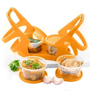 170 Lunch Box (200 ml each Container) with Attractive Stand - 4 pcs