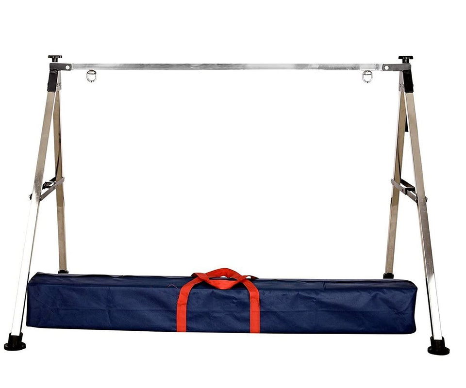 330 Folding Stainless Steel Baby Cradle with Carry Bag