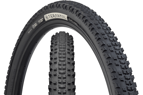 Teravail Ehline Tire composite image with tread detail and sidewall detail.