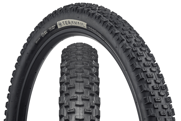 Teravail Honcho Tire composite image with tread detail and sidewall detail.