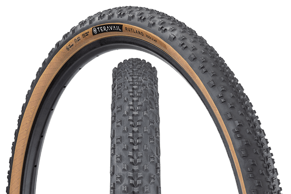 Teravail Rutland Tire composite image with tread detail and sidewall detail.