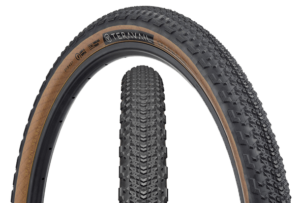 Teravail Sparwood Tire composite image with tread detail and sidewall detail.