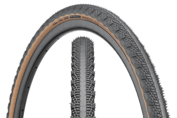 Teravail Rampart Tire composite image with tread detail and sidewall detail.