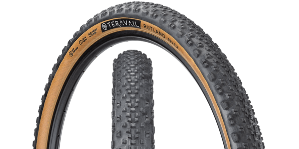 Teravail Rutland Tire - Tread and sidewall with hotpatch dual view
