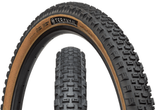 Load image into Gallery viewer, Top half of Honcho Tire, Front & Side, Tan Sidewall, 27.5 x 2.4 Width