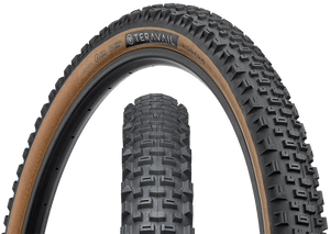 Top half of Honcho Tire, Front & Side, Tan Sidewall, 29 x 2.4 Widt