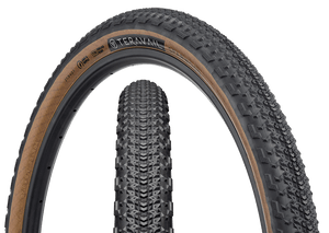Top half of Sparwood Tire, Front & Side, Tan Sidewall, 27.5 x 2.1 Width