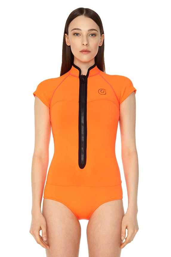 Signature 1 MM Short Sleeve Front Zip Springsuit