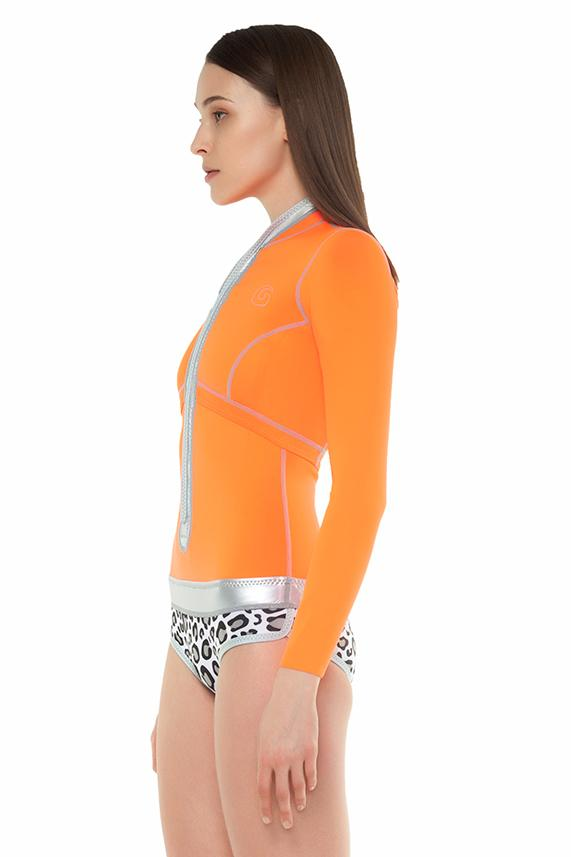 Signature 1 MM Long Sleeve with contrast bottom Front Zip Springsuit