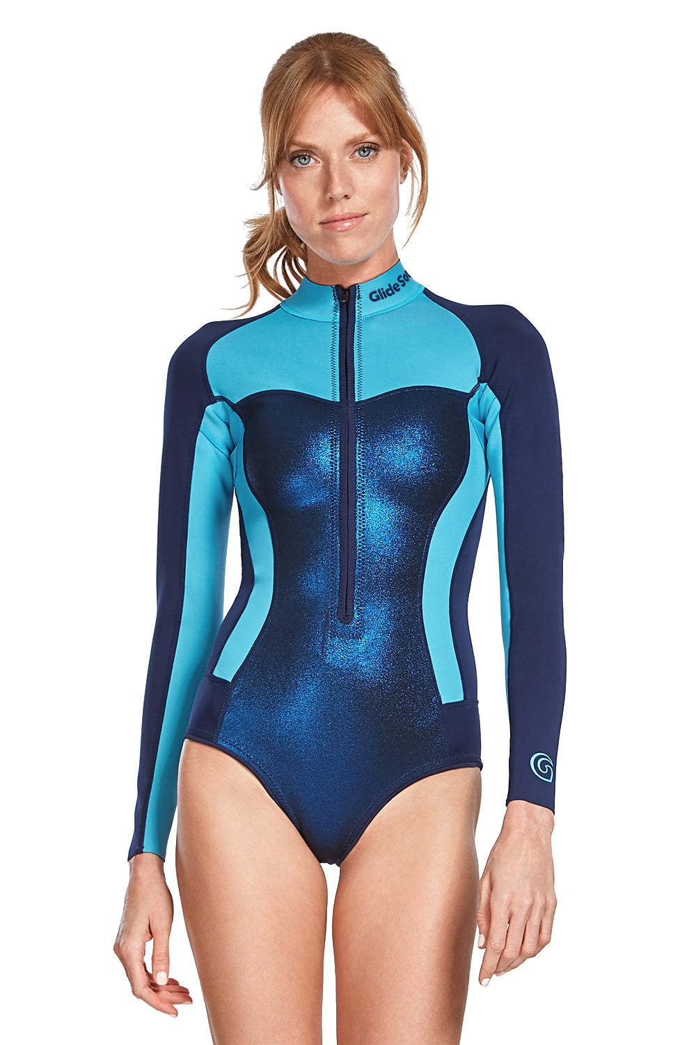 Bloom 0,5 MM Long Sleeve Front Zip Bikini Cut Shorty
