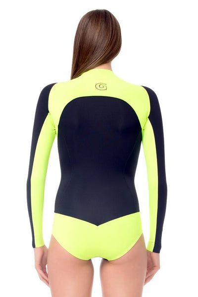 Signature 1 MM Long Sleeve Front Zip Bikini Cut Shorty