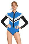 FlashBack 74 1 MM Long Sleeve Front Zip Bikini Cut Shorty