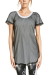 Round neck T-Shirt with Mesh