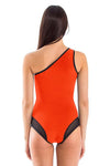 Signature Assimetric Neck One Piece Swimsuit