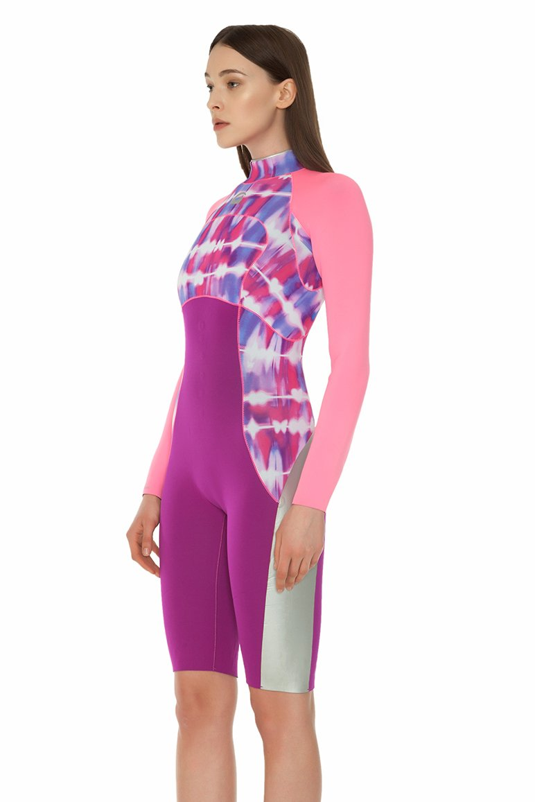 Tie Dye 2 MM Long Sleeve Back Zip GBS Springsuit