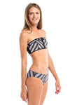 Vibrant Stripes Plain Bikini Bottom