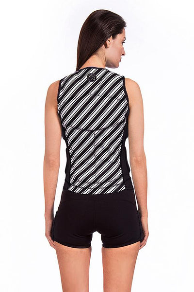 Vibrant Stripes Reversible Colour Block Comp Vest