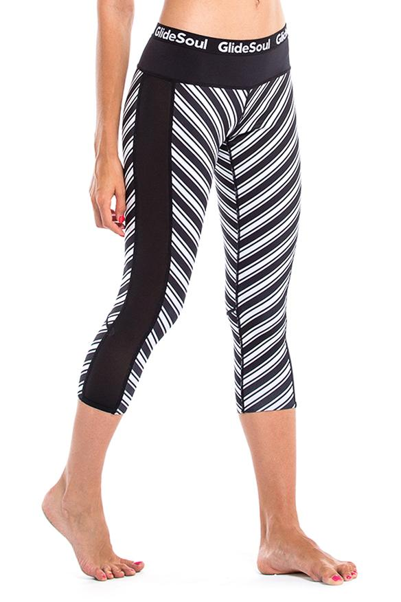 Vibrant stripes 1 MM Cropped Leggings